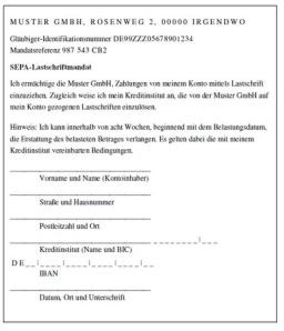 SEPA Lastschrift Mandat Q: www.SepaDetuschland.de